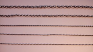 Burnished Brass Chain 1mtr Length