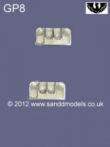 S&D Models GP8 Dummy Coupler top Blocks (Pair)