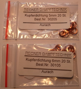 Regner Copper Sealing Washers in packs of 20