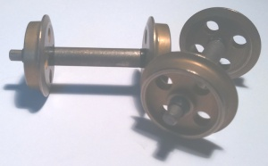 18mm Diameter Brass 4 Hole Wheel Set