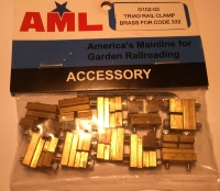 Accucraft AML G102-02 Rail Clamps with a split jaw