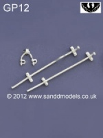 S & D Models Uncoupler bars and shackles. GP12