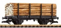 DB Stake Wagon with timber load Piko 37781