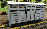W&L Cattle Wagon light grey undecorated R19-22B