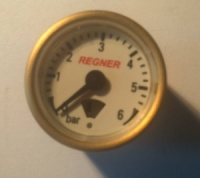 Regner 23mm Brass Pressure Gauge 30180