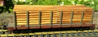 PRR Stake Wagon with timber load Piko 38720
