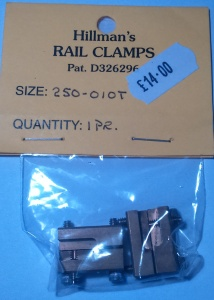 Hillmans 250-01OT Bridge lift out rail clamps