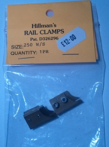Hillmans 250-W/S Wheel stop clamps