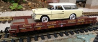 Piko 38769 UP Classic Auto Transport wagon with Chevy Nomad