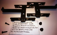 Accucraft Z9 L&B Goods wagon bogies (1 Pair no wheels)